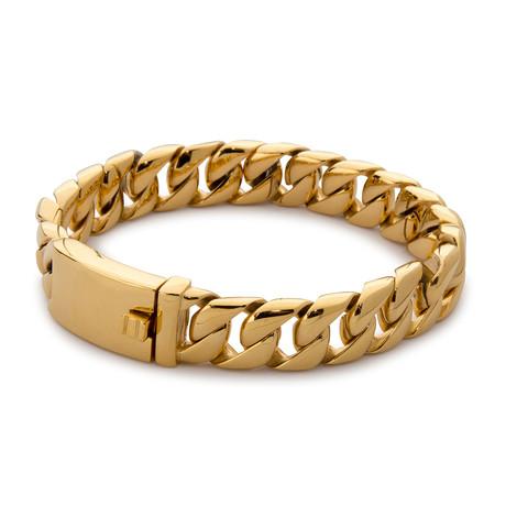Artillery Steel Bracelet // Gold
