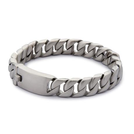 Artillery Steel Bracelet // Brushed Silver