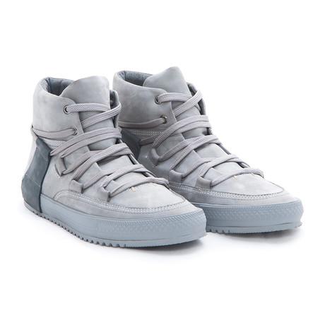 Camden Leather Hi-Top // Grey