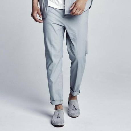 Lockwood Cropped Linen Pant // Grey
