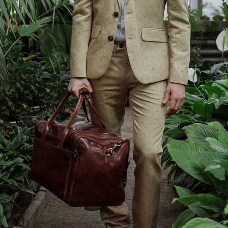 The Hitchhikers Guide To The Galaxy Duffel Bag // Brown