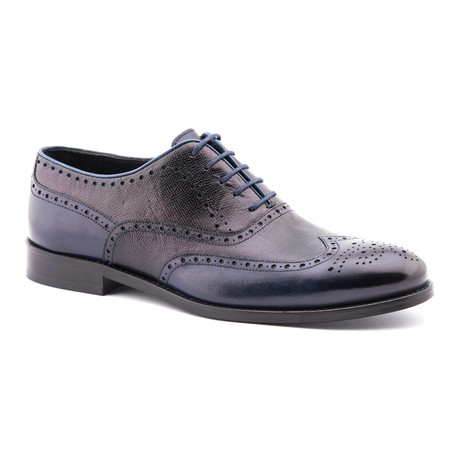 Classic Textured Oxford // Navy