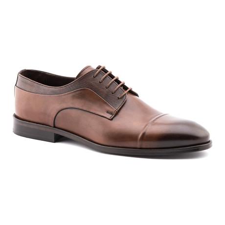 Sleek Toe Cap Brogue // Brown