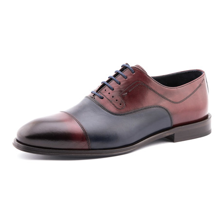 Two Tone Brogue // Burgundy + Navy
