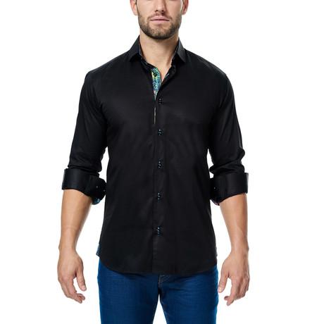 Luxor Fluo Paint Dress Shirt // Black (S)