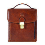 Walden // Small Leather Briefcase // Brown