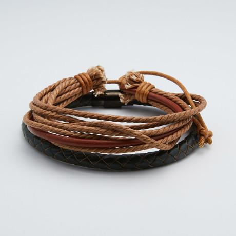 Paired Leather Bracelet Set