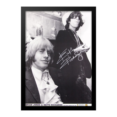 Keith Richards Signed Poster