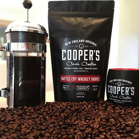Battle Cry Rye Whiskey Barrel Aged Coffee Beans // Ethiopia