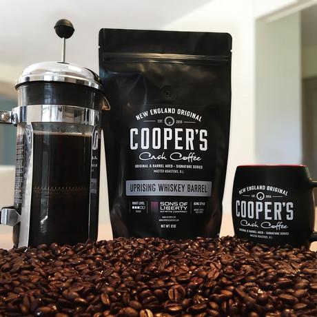 Uprising Stout Whiskey Barrel Aged Coffee Beans // Sumatra