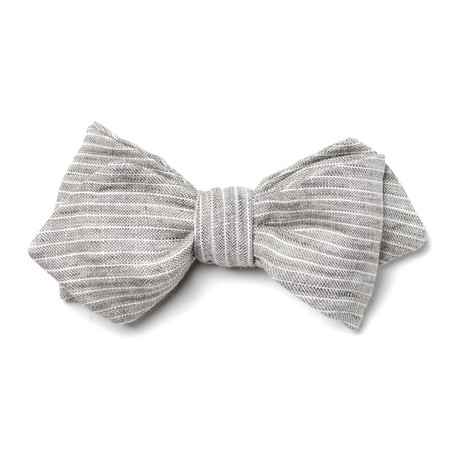 Mendel Bow Tie // Grey + White