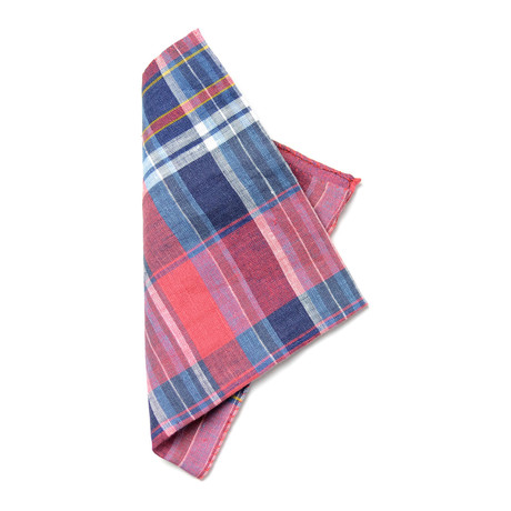 Bell Pocket Square // Red + Blue + White