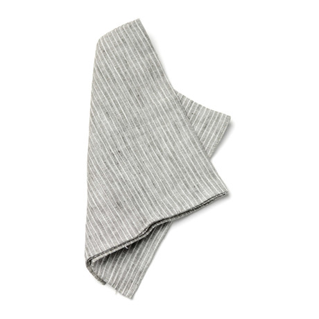 Mendel Pocket Square // Grey + White