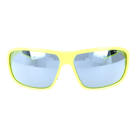 Thick Bridge Sport Sunglasses // Neon Yellow + Mirror