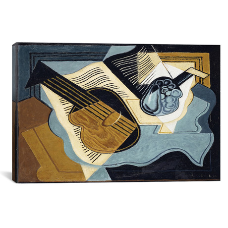"Guitar And Fruit Bowl // Juan Gris // 1921 (26""W x 18""H x .75""D)"