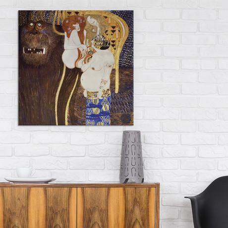 "The Hostile Forces (Detail) // Gustav Klimt // 1902 (18""W x 18""H x 0.75""D)"