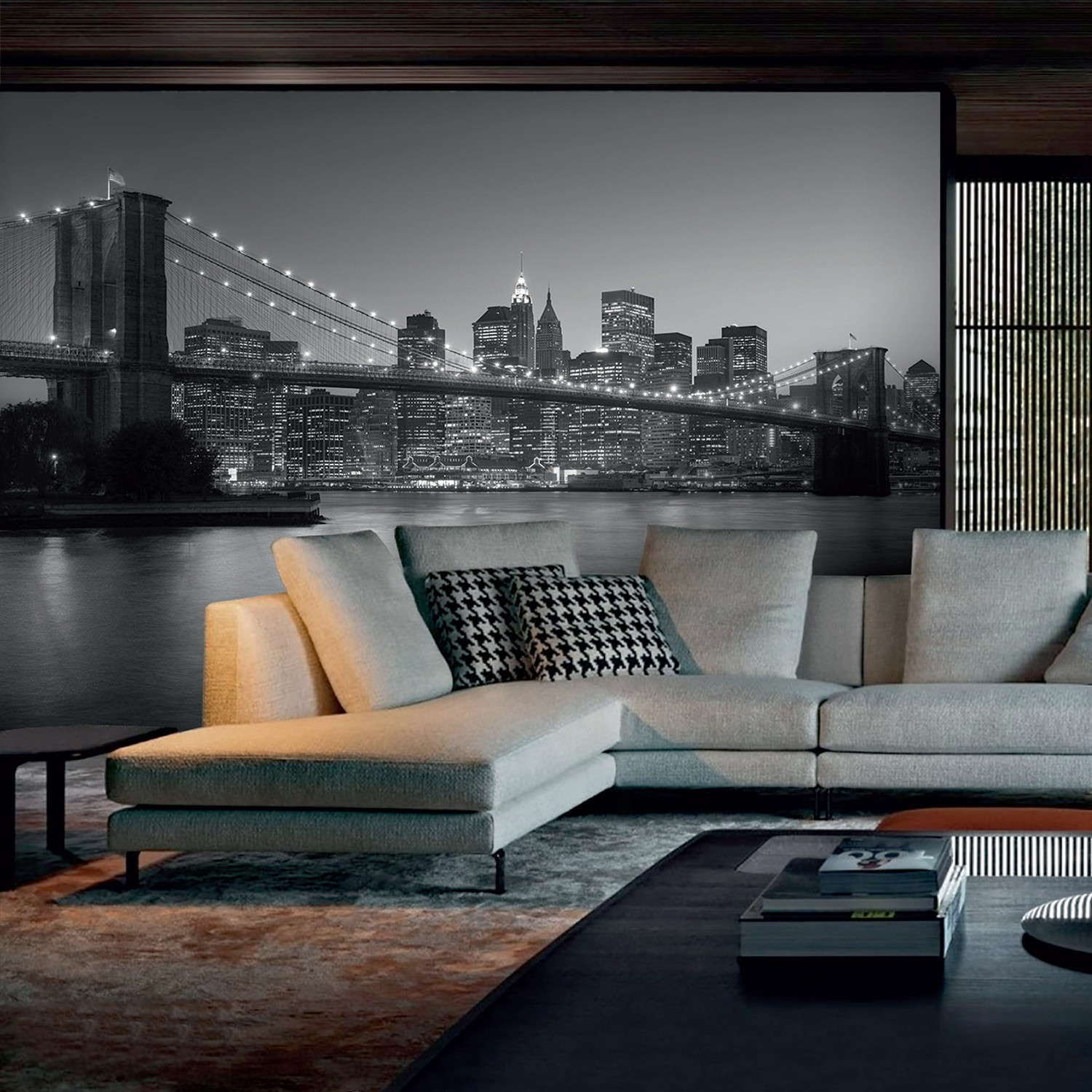 Brooklyn ii 4 8pc giant wall murals touch of modern for 8 sheet giant wall mural