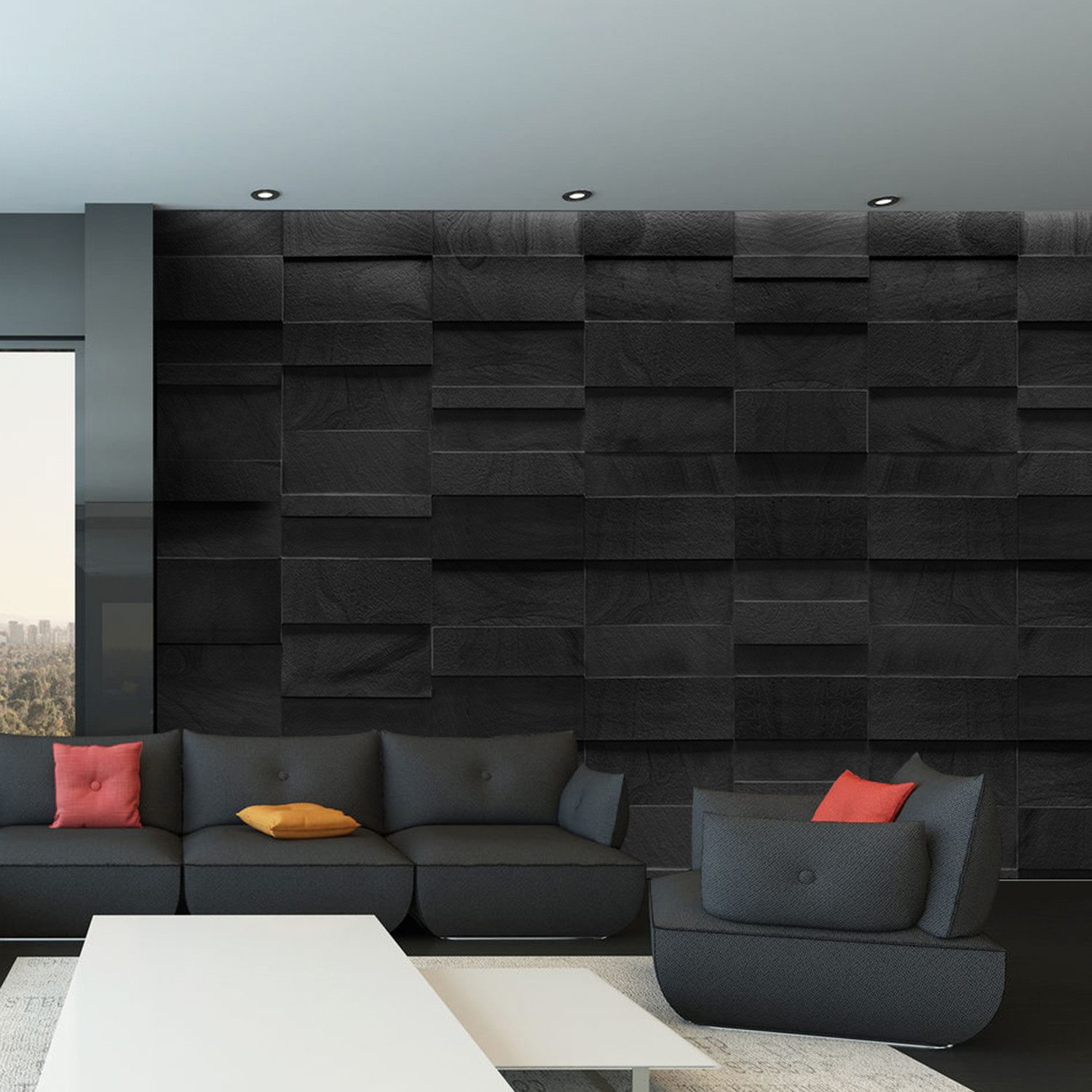Rock ii 4 8pc giant wall murals touch of modern for 8 sheet giant wall mural