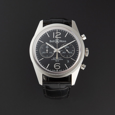 Bell & Ross Vintage Officer Chronograph Automatic // BRG126-BL-ST/SCR // Store Display