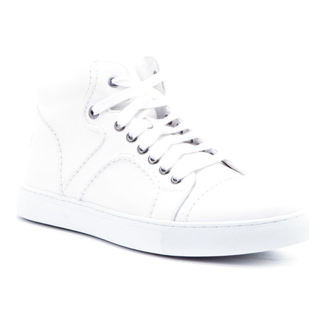 Vinyl High-Top Sneaker // White