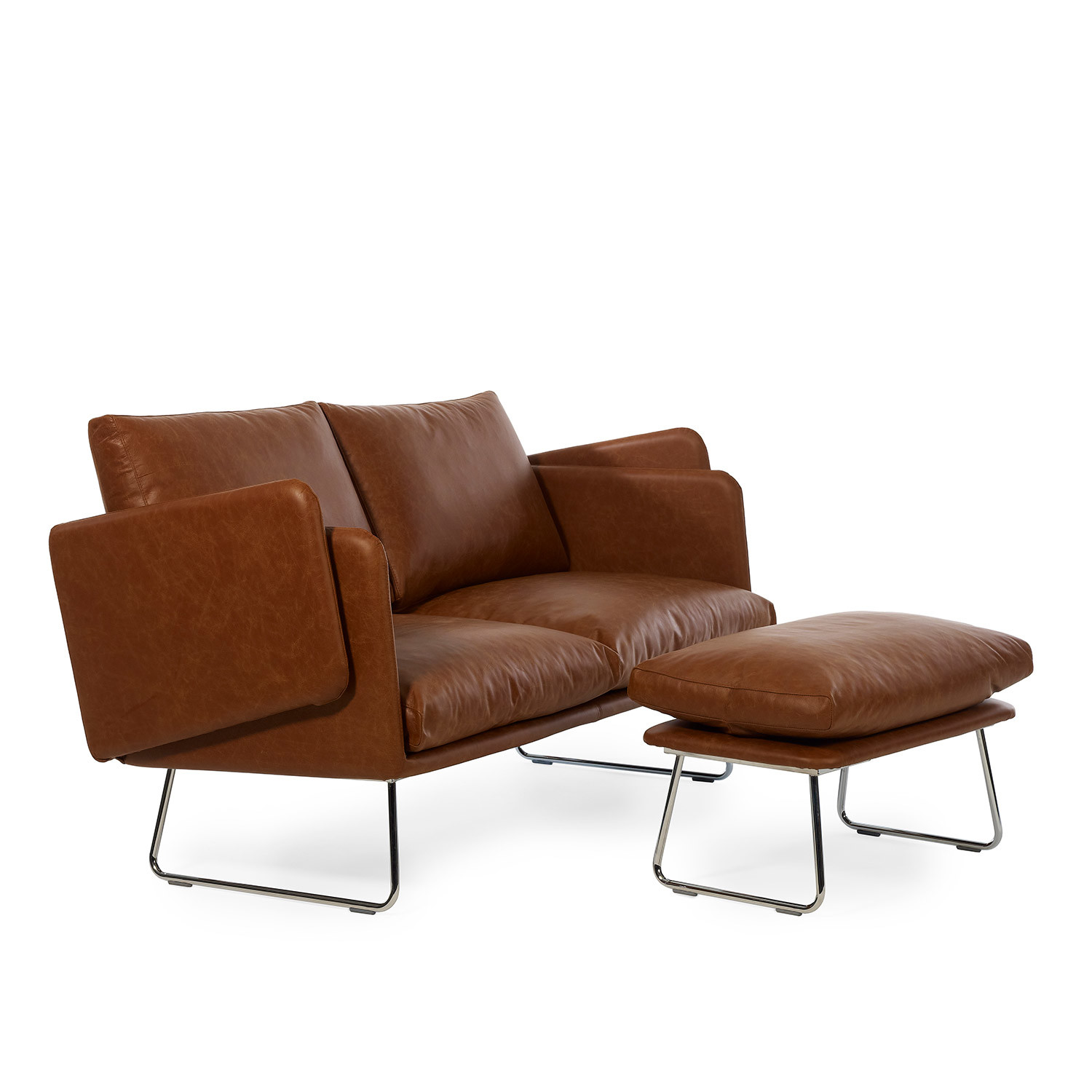 Spongy Leather Sofa Rs Barcelona Touch Of Modern