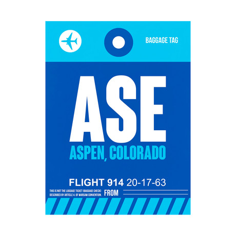 ASE Aspen Luggage Tag