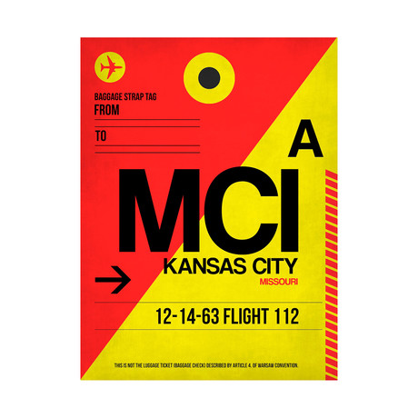 MCI Kansas City Luggage Tag