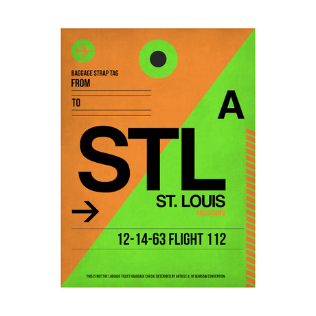 STL St. Louis Luggage Tag