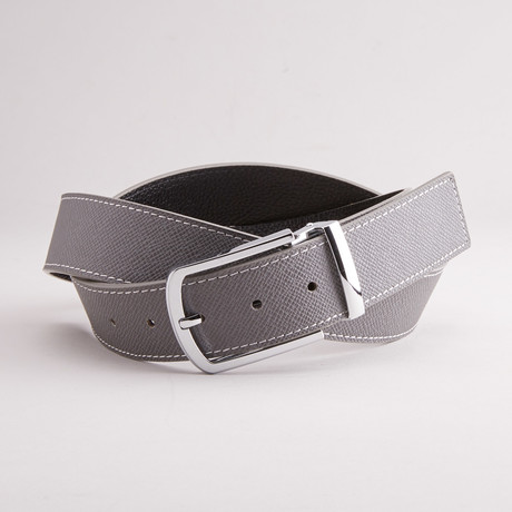 "Hansel Traditional Style Belt // Gray (33"" Waist)"