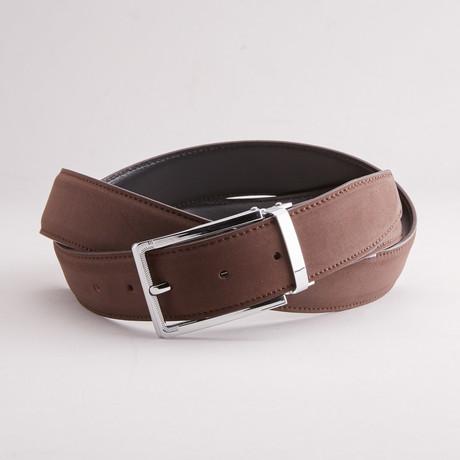 Suede Traditional Style Belt // Dark Brown