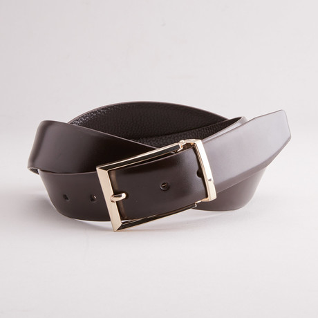 Clay Traditional Style Belt // Dark Brown