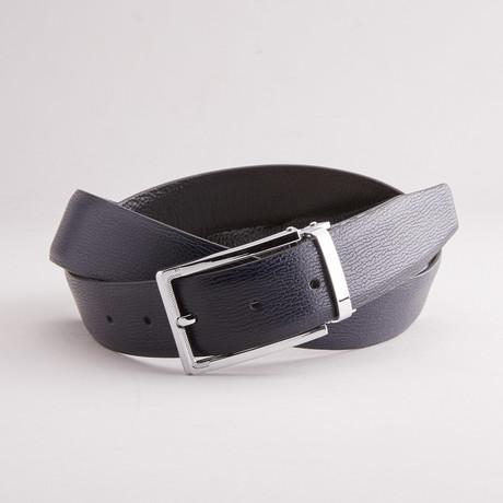 Grain Traditional Style Belt // Navy