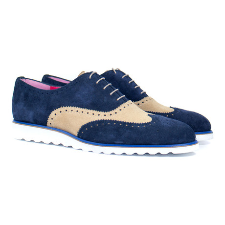 Brogue // Navy + Beige