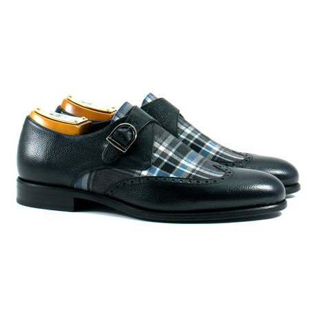 Single Monk Strap Shoe // Black