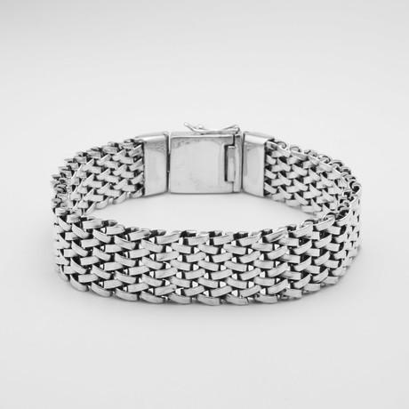 8 Row Locked Links Bracelet