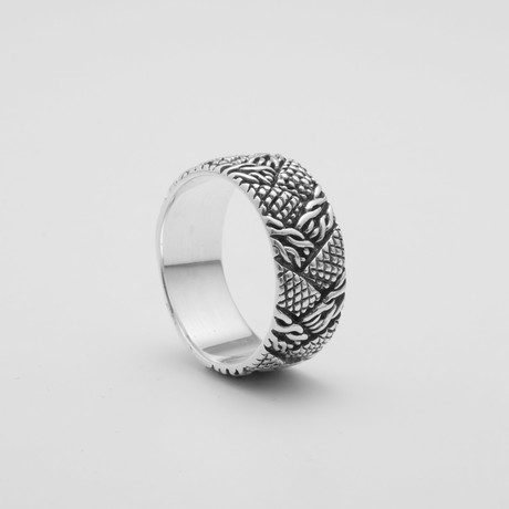 Braided Bead Ring (Size: 9)
