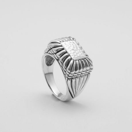 Fancy Stamp Ring (Size: 9)