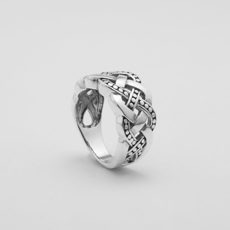 Triple Braid Patterned Ring (Size: 9)