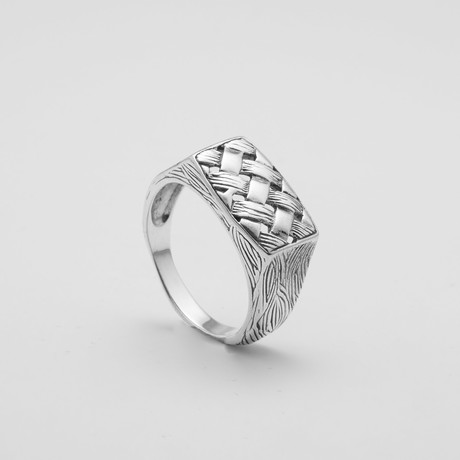 Braided Stamp Ring (Size: 9)