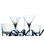 Intermezzo Martini Glass // Blue // Set of 2