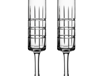 Photo of Orrefors Swedish Serveware Street Champagne Glass // Set of 2 by Touch Of Modern