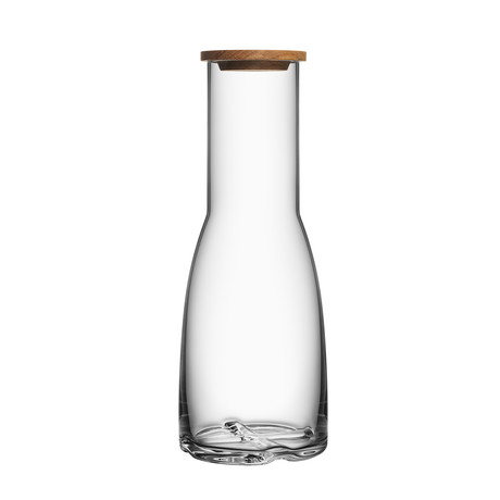 Bruk Carafe + Oak Lid (Smoke Gray)