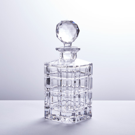 Crystal Big Squares Whiskey Decanter
