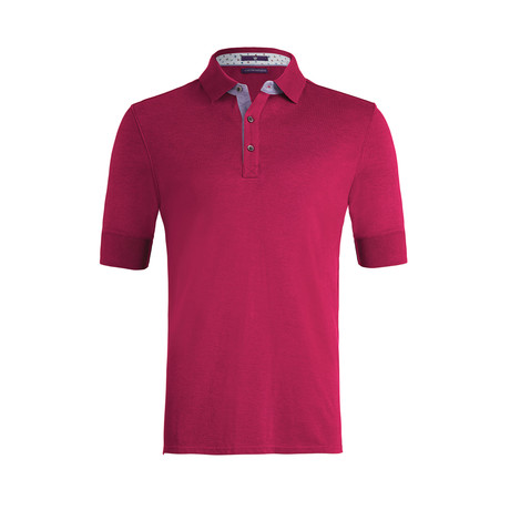 Johnby Solid Short-Sleeve Polo Shirt // Victory Red