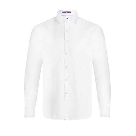 Beeston Long-Sleeve Woven Shirt // White