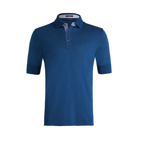 Johnby Solid Short-Sleeve Polo Shirt // Imperial Blue