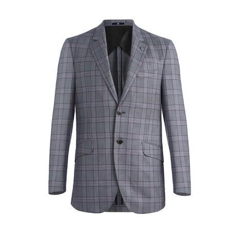 Eden Plaid Blazer // Grey