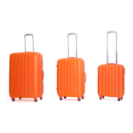 Icon II Hardshell Trolley // Set of 3 // Orange
