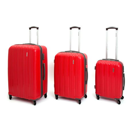 Icon I Hardshell Trolley // Set of 3 // Red