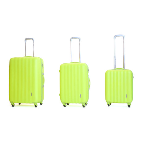 Icon II Hardshell Trolley // Set of 3 // Apple Green
